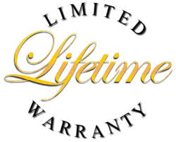 Lifetime warranty on all parts.